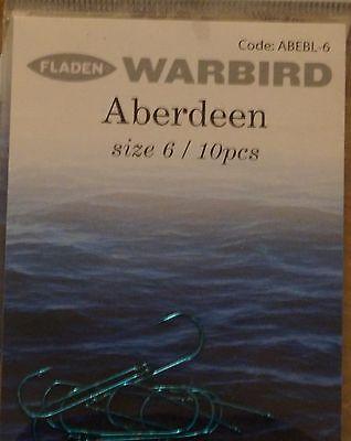 40-50 Hooks Per Pack Eagle Claw Rotating Aberdeen Sea Fishing Hooks