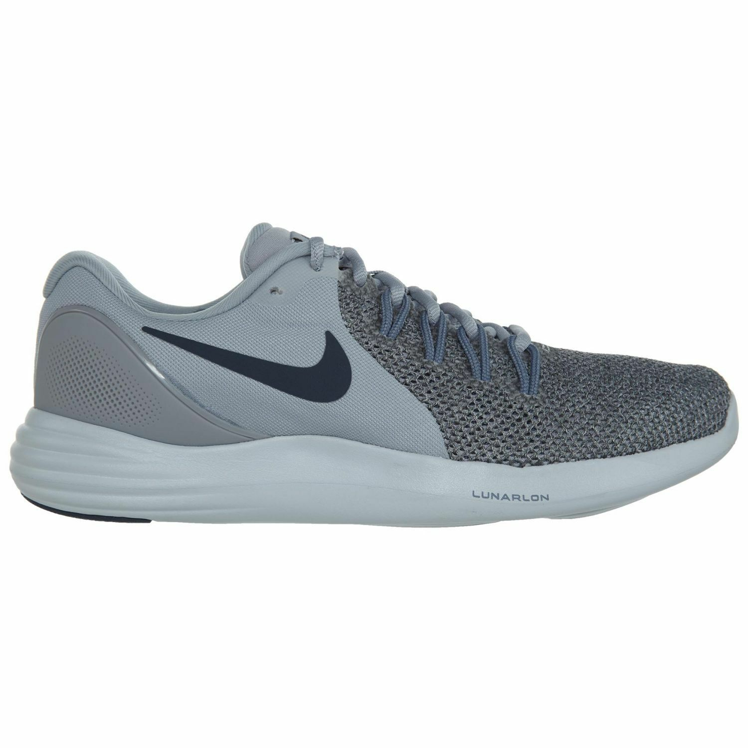 Nike Lunar Apparent Mens 908987-007 Grey Thunder Blue Running Shoes Size 8