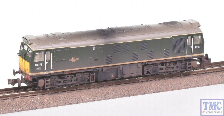 371-085A Graham Farish N Gauge Class 25 1 D5177 BR verde Weatherosso by TMC