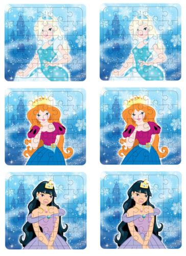 6 princesse de glace Jigsaw Puzzles-Frozen Butin//Fête Sac Remplissage Mariage//Enfants