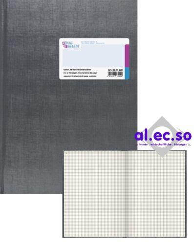 K E Geschäftsbuch A4 kariert 96 Blatt gebunden 80g//m² 8614222 mit Seitenzahlen