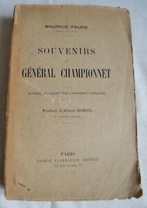 Souvenirs du général Championnet  par Maurice Faure préface de Sorel flammarion