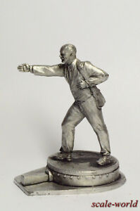 Tin-soldier-figure-V-I-Lenin-54-mm