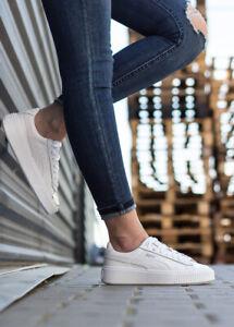 Details zu PUMA BASKET PLATFORM METALLIC Echtleder Damen Sneaker Schuhe  Classic 366169-01