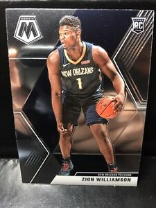 ZION-WILLIAMSON-2019-20-PANINI-MOSAIC-BASE-ROOKIE-RC-209-PELICANS