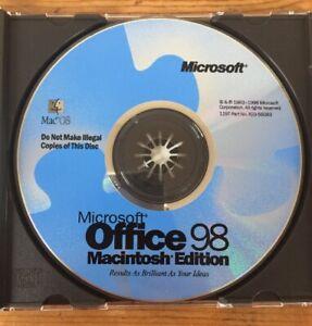Vintage-1998-Office-98-Suite-Macintosh-Mac-OS-Edition-X03-56083-Installation-CD
