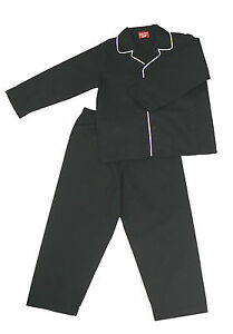 PYJAMA-SUIT-SLEEPWEAR-100-COTTON-BLACK-WITH-WHITE-PIPING-4-9-YEARS