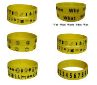 Communication Bracelets I Need Help Oral Rehab Stroke Asd Autism Special Needs
