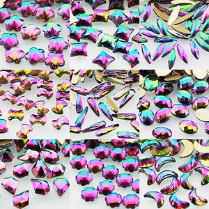 c0441ab007 Details about Multi-Shape Top Colorful Czech Crystal Rhinestone Flatback  Nail Art Decoration