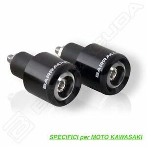 BARRACUDA CONTRAPPESI MANUBRIO ERGAL NERO SPECIFICI per KAWASAKI ZX-6R 636 2006