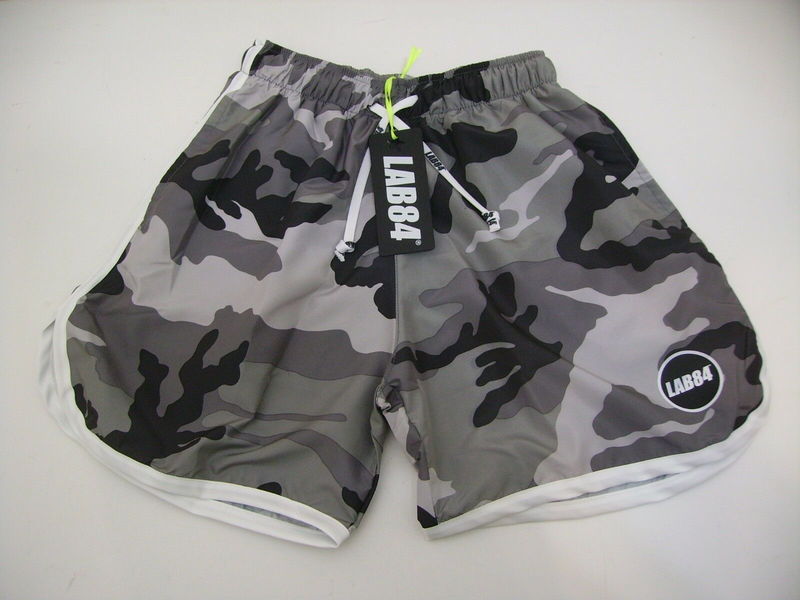 Lab84 Costume Shorts Short Short SHM1004CAMOU Surf Grey Mimetic White