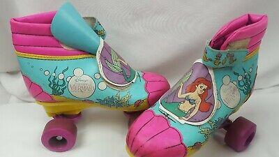 Disney S The Little Mermaid Vintage Roller Skates 3y Ariel Flounder Sebastian Ebay