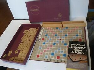 Vintage-1948-1953-Selchow-amp-Righter-SCRABBLE-Crossword-Game-Complete