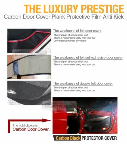 Carbon Door Decal Sticker Cover Kick Protector For HYUNDAI 2010-2013 Tucson ix35
