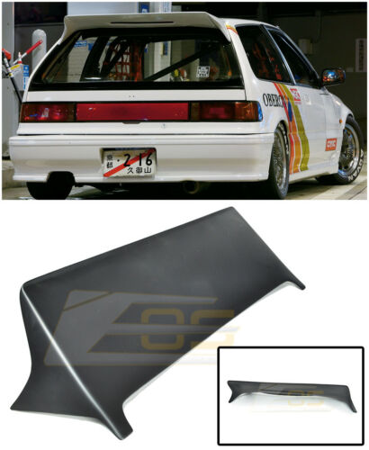 For 88-91 Honda Civic EF9 J/'s Racing Style JDM Rear Roof Top Wing Lip Spoiler