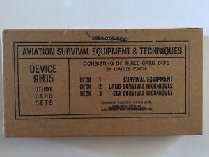 VINTAGE-VIETNAM-WAR-AVIATION-SURVIVAL-EQUIPMENT-SET-OF-3-DECKS-OF-CARDS-UNOPENED