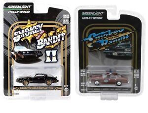 Greenlight-1-64-Smokey-and-the-Bandit-Set-1977-LEMANS-and-1980-PONTIAC-TRANS-AM