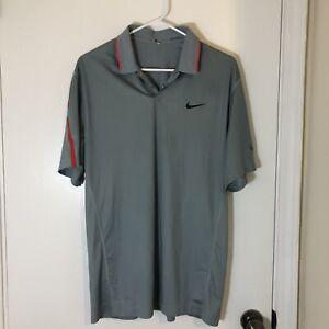 Nike-Tiger-Woods-Collection-Dri-Fit-Mens-Golf-Shirt-Size-Medium-Short-Sleeve