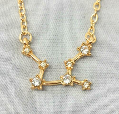 *UK* Gold Plated /'Virgo/' Necklace Constellation Star Sign Astrological A