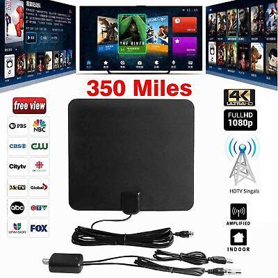 350 Miles Indoor Digital TV HDTV Antenna 2019 Latest UHF//VHF//1080p 4K 13ft Fox