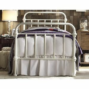 Antique White Iron Metal Bed Frame Twin Headboard Victorian French Furniture Ebay