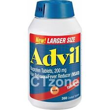 Advil Ibuprofen 200mg NSAID Pain Fever Reliever 360 Tablet FREE SHIPPING