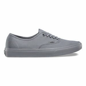 27b7f81b1a Image is loading Vans-Authentic-Primary-Mono-Frost-Gray-Silver-Canvas-