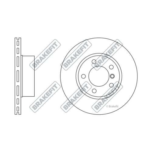 SDK6248 Genuine OE Quality Brakefit Front Vented Brake Discs