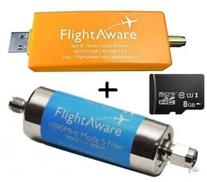 Details about MicroSD +Pro Stick USB ADS-B Receiver + 1090MHz Band-pass  Filter frm FlightAware