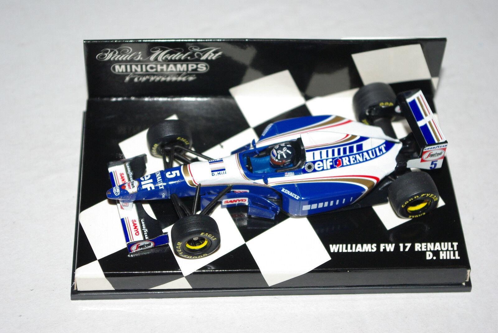 la mejor oferta de tienda online Minichamps F1 1 43 Williams Renault FW17 FW17 FW17 Damon Hill  colores increíbles