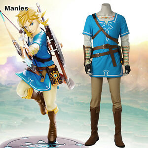 Details About The Legend Of Zelda Breath Of The Wild Link Costume Cosplay Halloween Outfit New