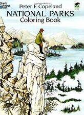 Dover Nature Coloring Book: National Parks Coloring Book by Peter F. Copeland (1993, Paperback)