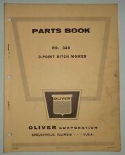 Oliver No320 3 Point Hitch Sickle Bar Mower Parts Catalog Manual Book Original
