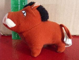 Nice-Plush-Doll-Toy-Lion-King-Pumbaa-the-Warthog-3-034-1998-McDonald-039-s