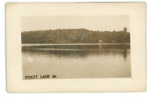 RPPC-View-of-FOREST-LAKE-PA-Susquehanna-County-Real-Photo-Pennsylvania-Postcard