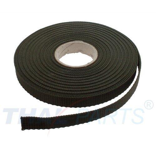 Oliv PP Taschengurt Taschenband ca 10m Gurtband 15mm Breit 1,6mm stark