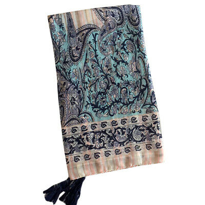 Hot Sale Women Totem Print Boho Cotton Linen Scarf Beach Shawl Fringe Tassel