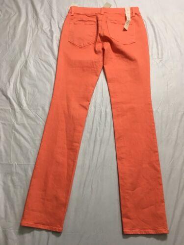 Ann Gamba Nwt Modern Taglia Taylor Denim Slim Arancione Jeans Stretch 0 Fit Denim Raq4xFFw
