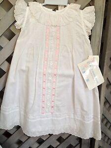 Eyelet pintucks ribbon white dress slip bonnet 6mo 18lbs nwt ebay