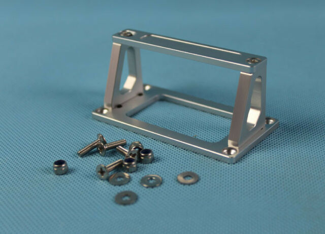 CNC aluminum servo tray stand mount 76mm X38mmX37mm for large size servo rc boat