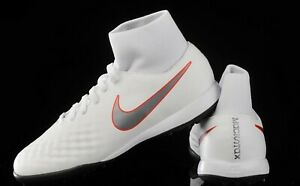 0dc8baaed Nike Jr. Magista Obra 2 Academy DF TF -White  Metallic Cool Grey ...