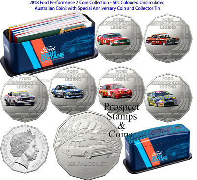 Brand New Tin 2018 Ford Motorsport Collection RAM 50c Six Coin Collection