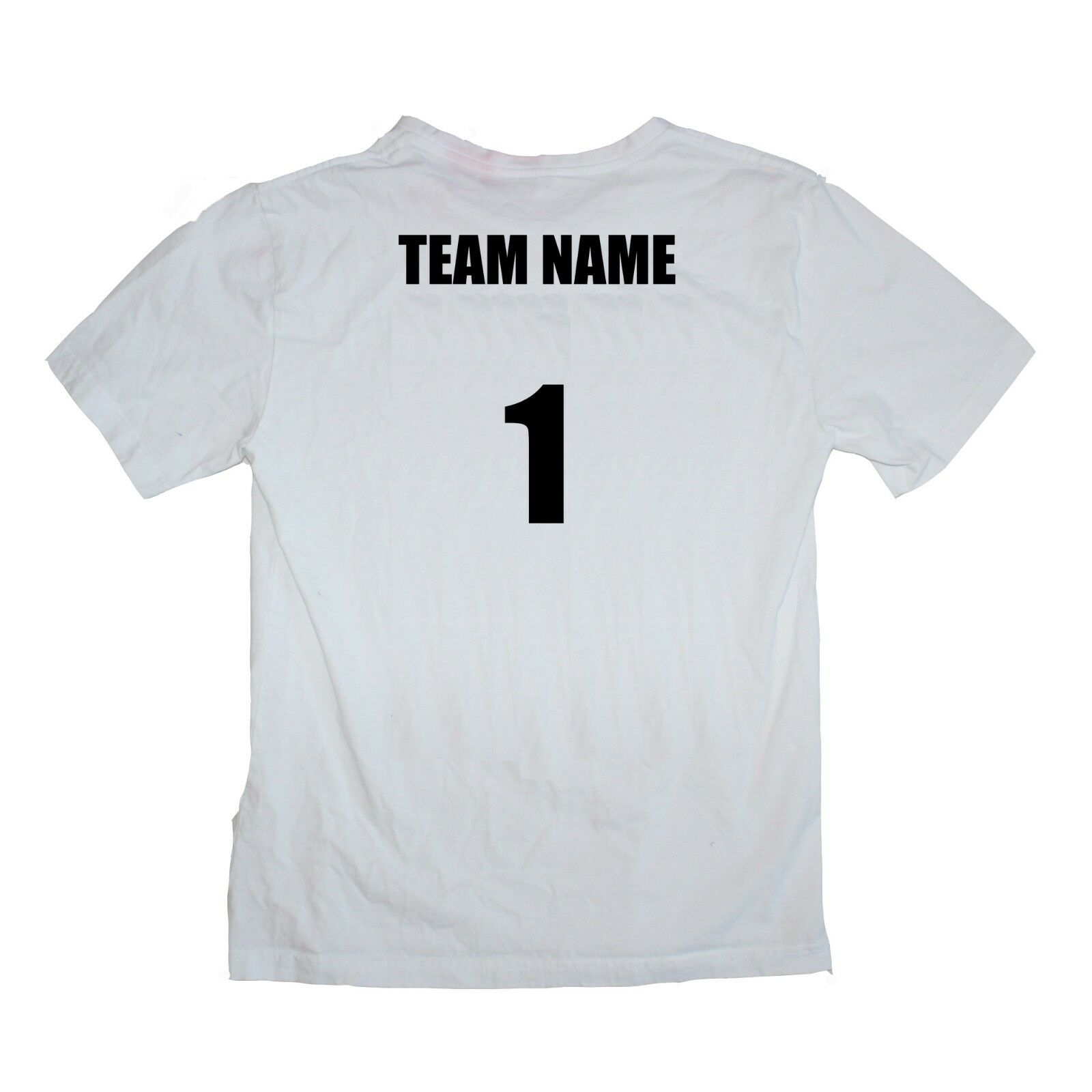 Touch Football Shirts Set of 14 Team Name Number Weiß 17 ea - Größes kids to XL