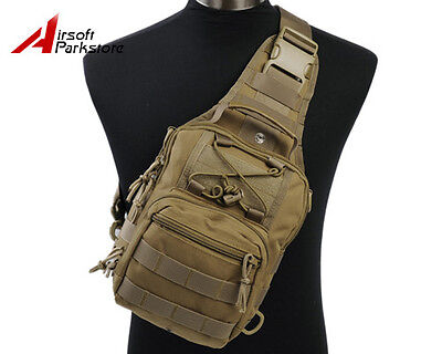 1000D Molle Tactical Utility Shoulder Pack Bag Pouch Backpack Camping Hiking Tan