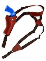 Barsony Burgundy Leather Shoulder Holster For Rossi, Navy Arms 4 Revolvers