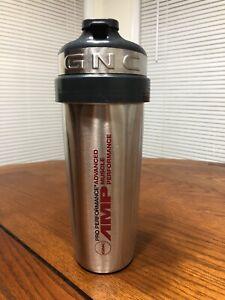 GNC AMP PRO PERFORMANCE STAINLESS STEEL SHAKER NEW 24 oz eBay