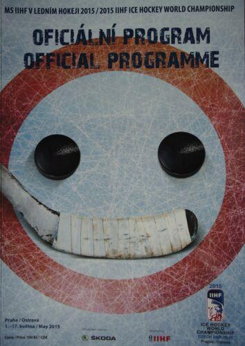 Programm IIHF Eishockey WM 2015 Tschechien Prag Ostrava