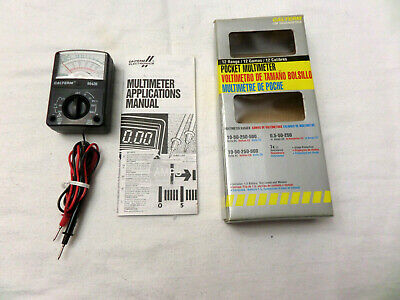 Calterm 66420 Electrical Analog Multimeter 300V AC//DC 5 Function and 12 Range