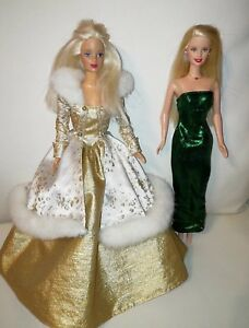 Barbie Holiday Barbie Doll Blonde And Holiday Joy Doll 2 Barbies Ebay