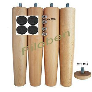 Dettagli su Set 4 pz Piedi Gambe legno per rete a doghe zampe varie altezze  ricambio